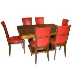 Original French Art Deco Modernist Dining Suite, 1930s