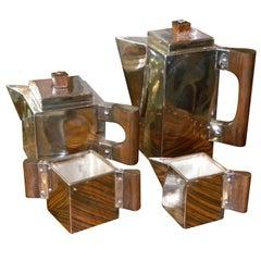 Outstanding Unique Cubist Coffee/Tea Service H.L. Linton, Paris