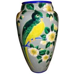 Boch Catteau Era Ceramic Vase with Bird