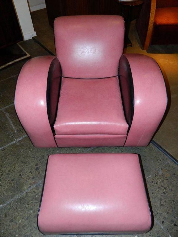 Jazz style Streamline pink/black Modernist chair 3