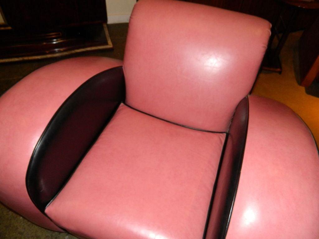 Jazz style Streamline pink/black Modernist chair 4