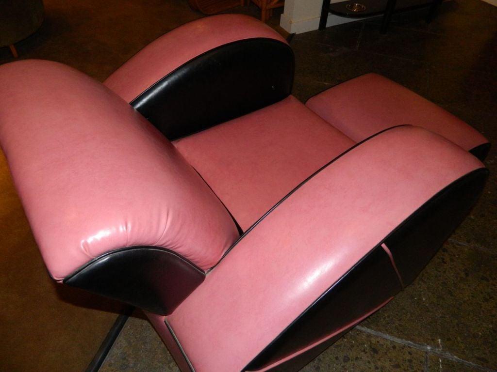 Jazz style Streamline pink/black Modernist chair 7