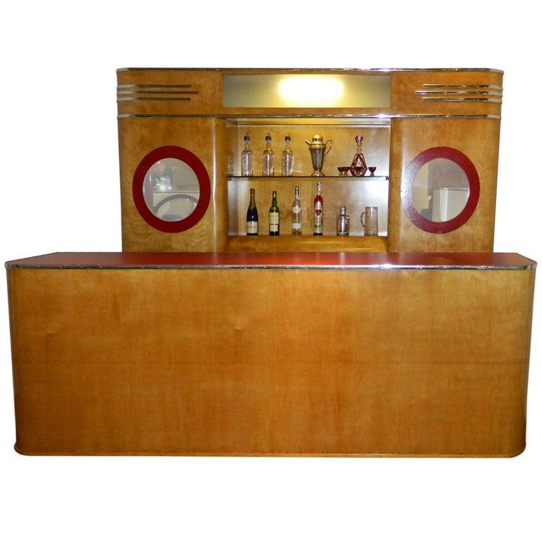 art deco custom bar original with backbar for sale at 1stdibs. Black Bedroom Furniture Sets. Home Design Ideas