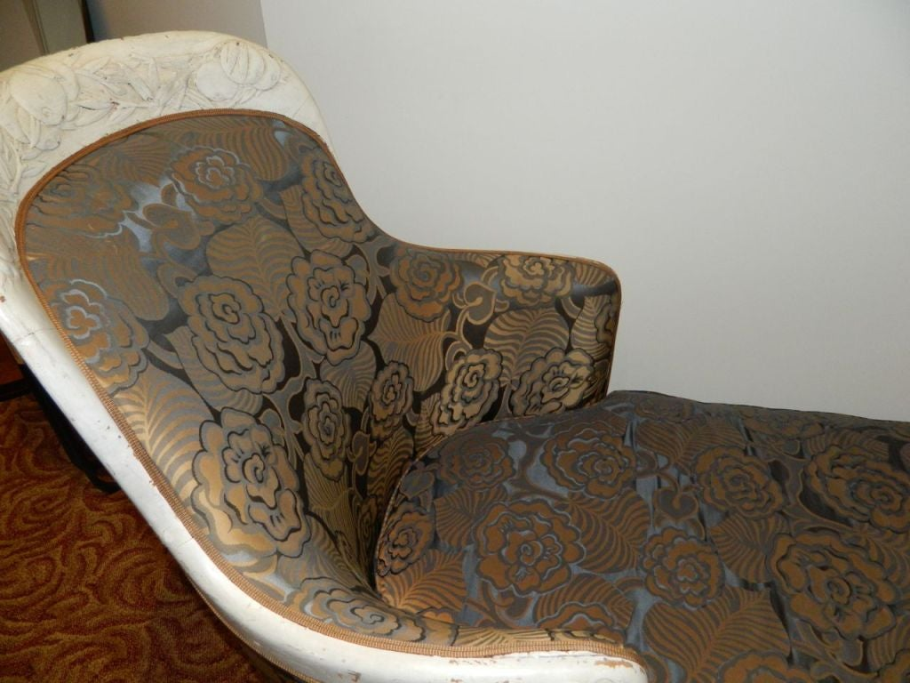 French Art Deco Chaise Lounge circa 1925 Maurice Dufrêne For Sale 4