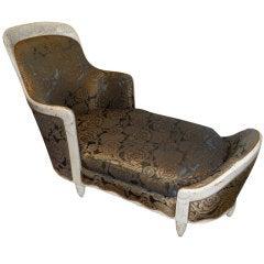French Art Deco Chaise Lounge circa 1925 Maurice Dufrêne