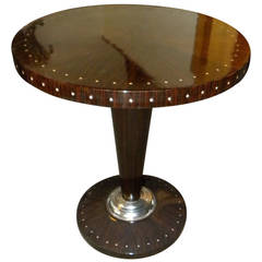 Macassar with Inlay Art Deco Side Table