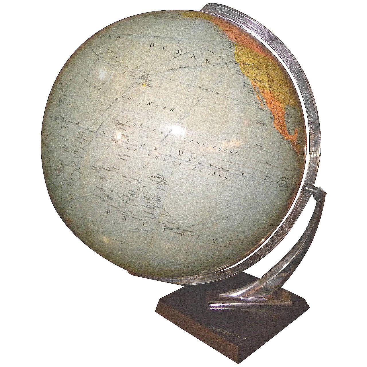 Streamline Pre WW2 German made World Globe at 1stdibs