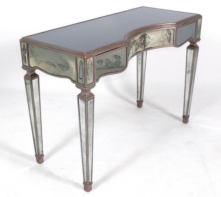 antique mirror and silver leaf desk or vanity at 1stdibs