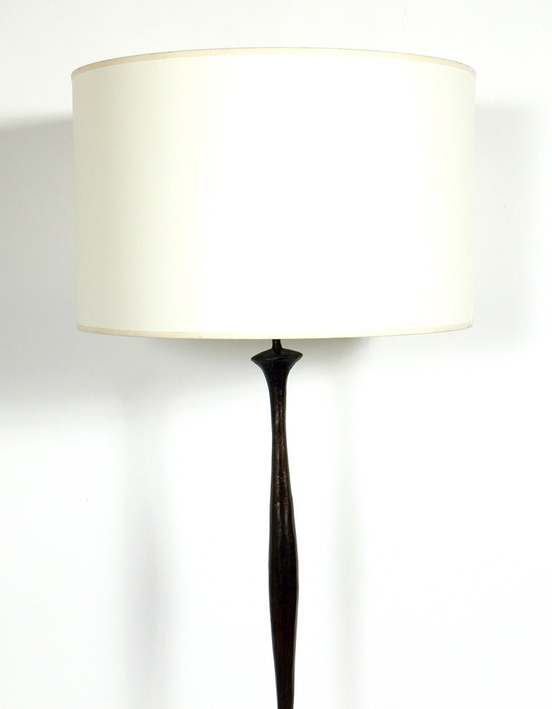 Wonderful Sculptural Solid Bronze Floor Lamp After Diego Giacometti 2