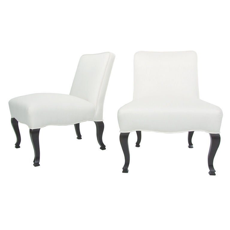 Pair of Petite Slipper Chairs