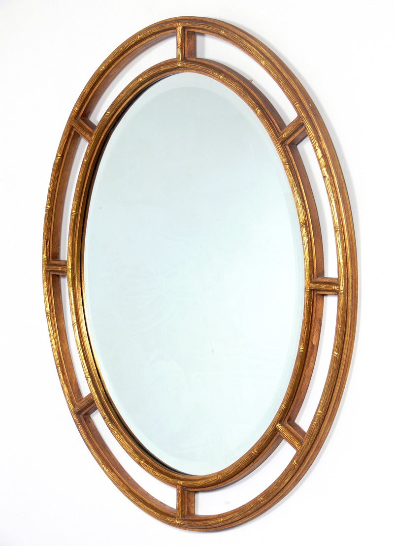 Gilt oval mirror at 1stdibs for What is a gilt mirror