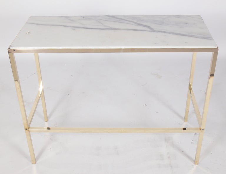 Brass and Marble Console Table or Desk after Paul McCobb 5