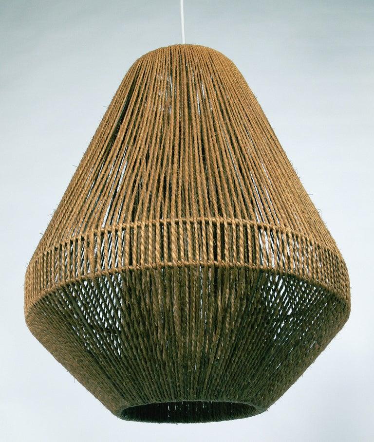 Danish Modern Rope Chandelier Or Pendant Lamp At 1stdibs