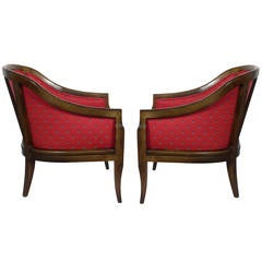 Pair of Curvaceous Lounge Chairs