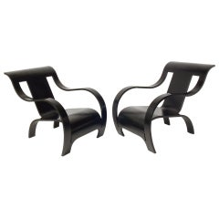 Pair of Gerald Summers Lounge Chairs from the Estate of Billy Wilder