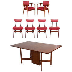 Dining Table and Six Chairs designed by George Nelson for Herman Miller