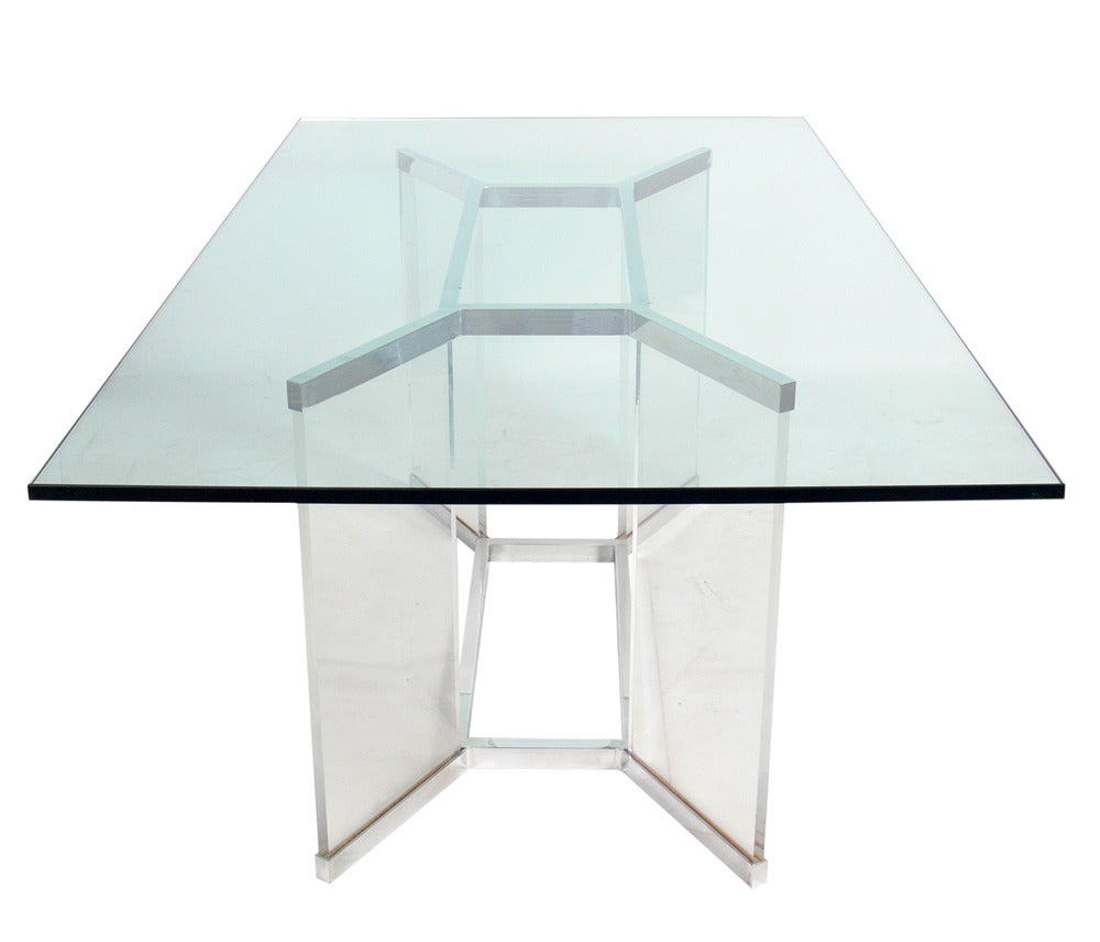 Plexiglass Dining Table Mid Century Modern Lucite And