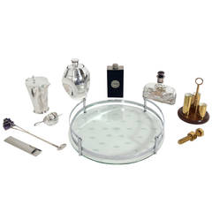Selection of Art Deco and Mid Century Modern Cocktail and Bar Accessories