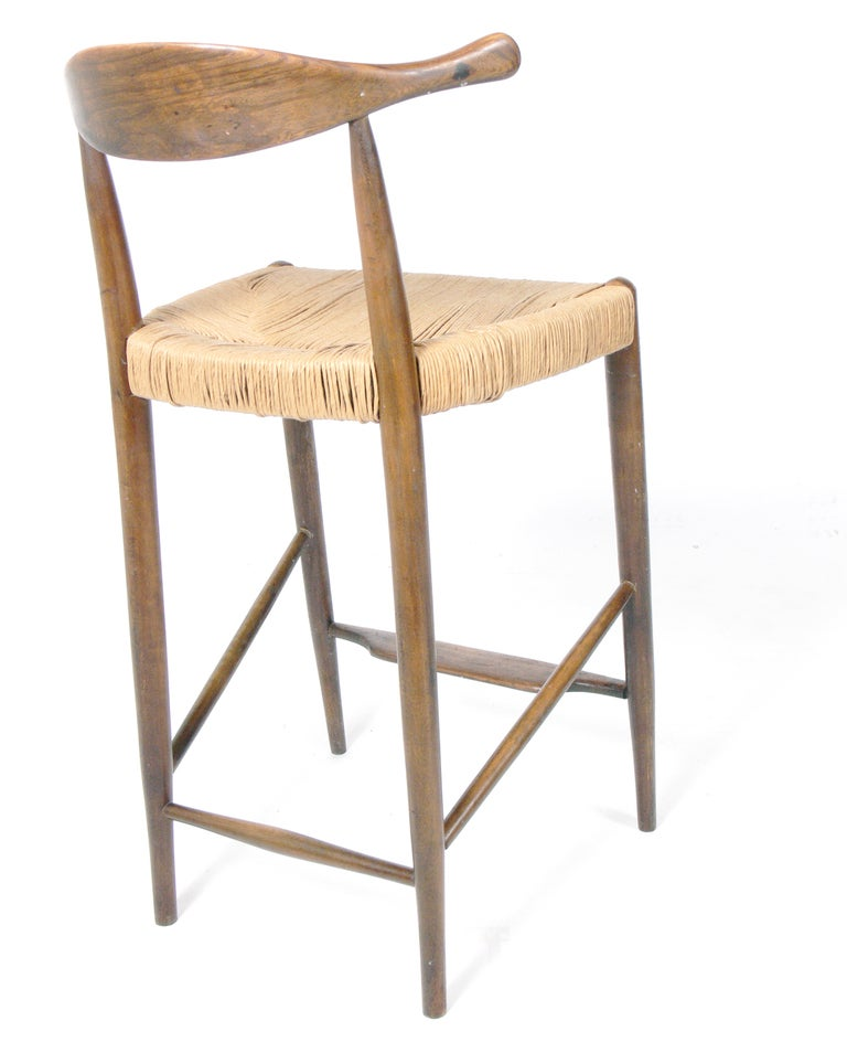 Danish Modern Bar Stools After Hans Wegner At 1stdibs