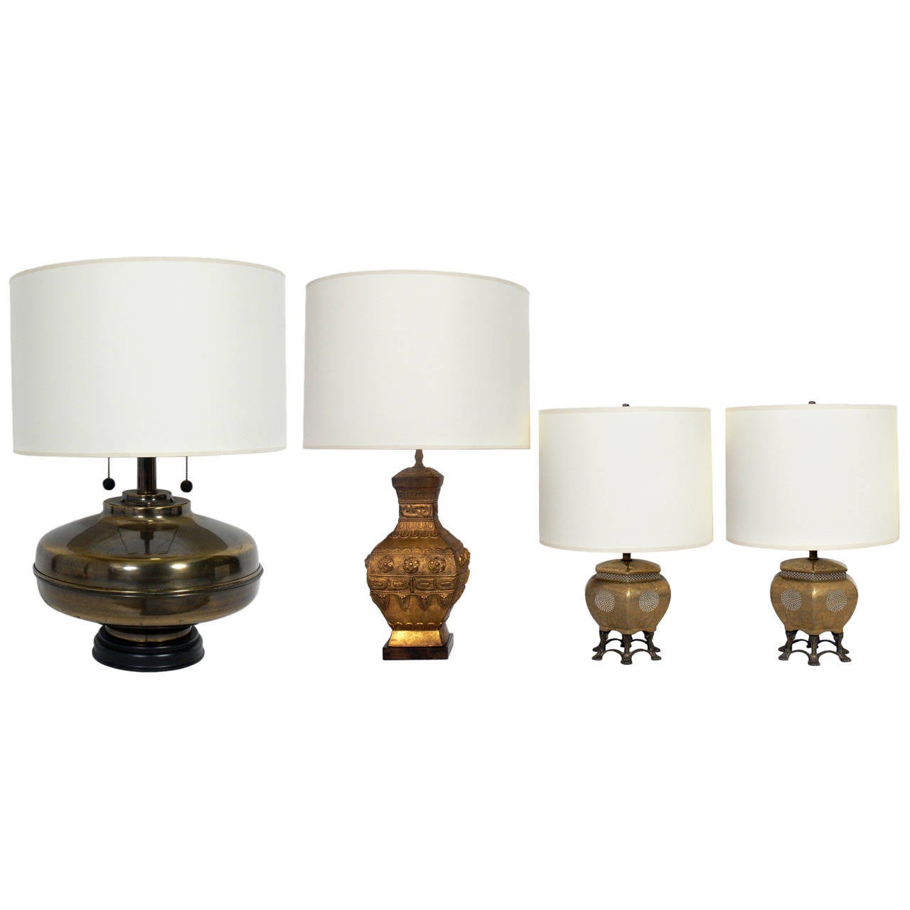 Selection of Asian Style Vintage Lamps