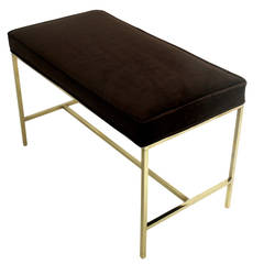 Modernist Brass Bench by Paul McCobb