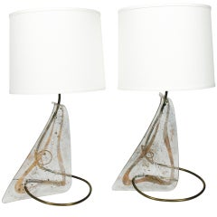 Pair of Unique Sculptural Lamps by Zahara Schatz