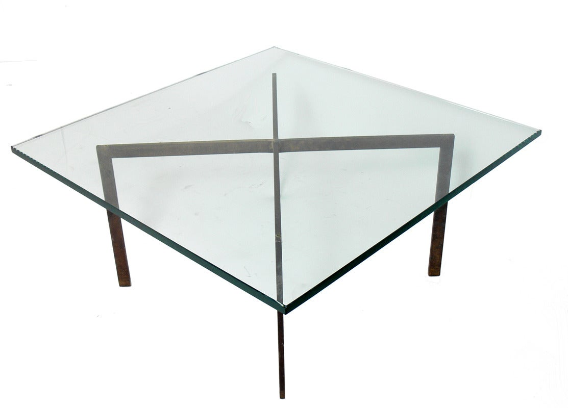 Solid Bronze X Base Coffee Table At 1stdibs