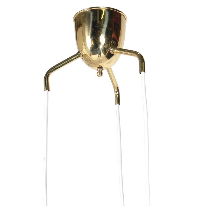 Pair of Danish Modern Pendant Light Fixtures or Chandeliers In Excellent Condition For Sale In Atlanta, GA