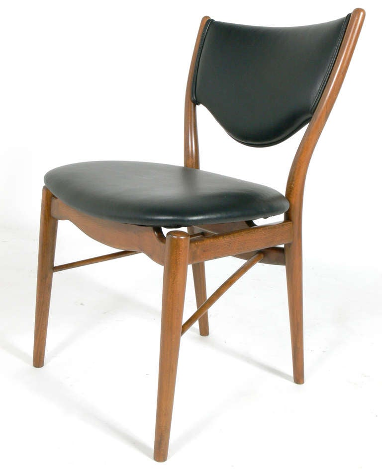 danish modern desk chair by finn juhl for sale at 1stdibs. Black Bedroom Furniture Sets. Home Design Ideas