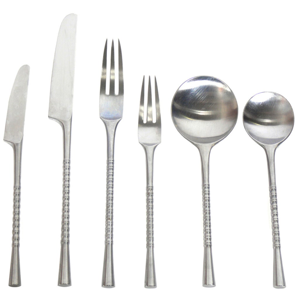 dansk danish modern jette flatware set designed by jens quistgaard at 1stdibs