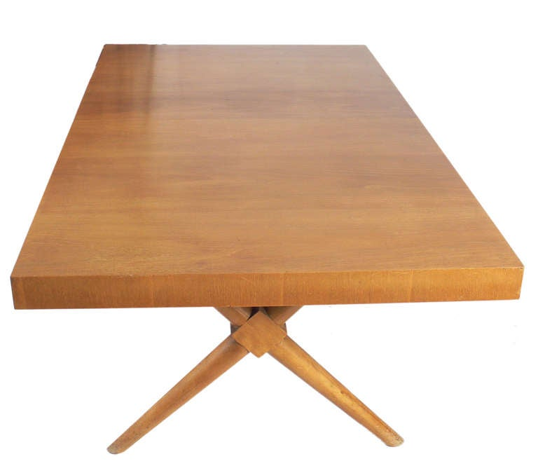 Sculptural X Base Dining Table Designed By T H Robsjohn Gibbings At