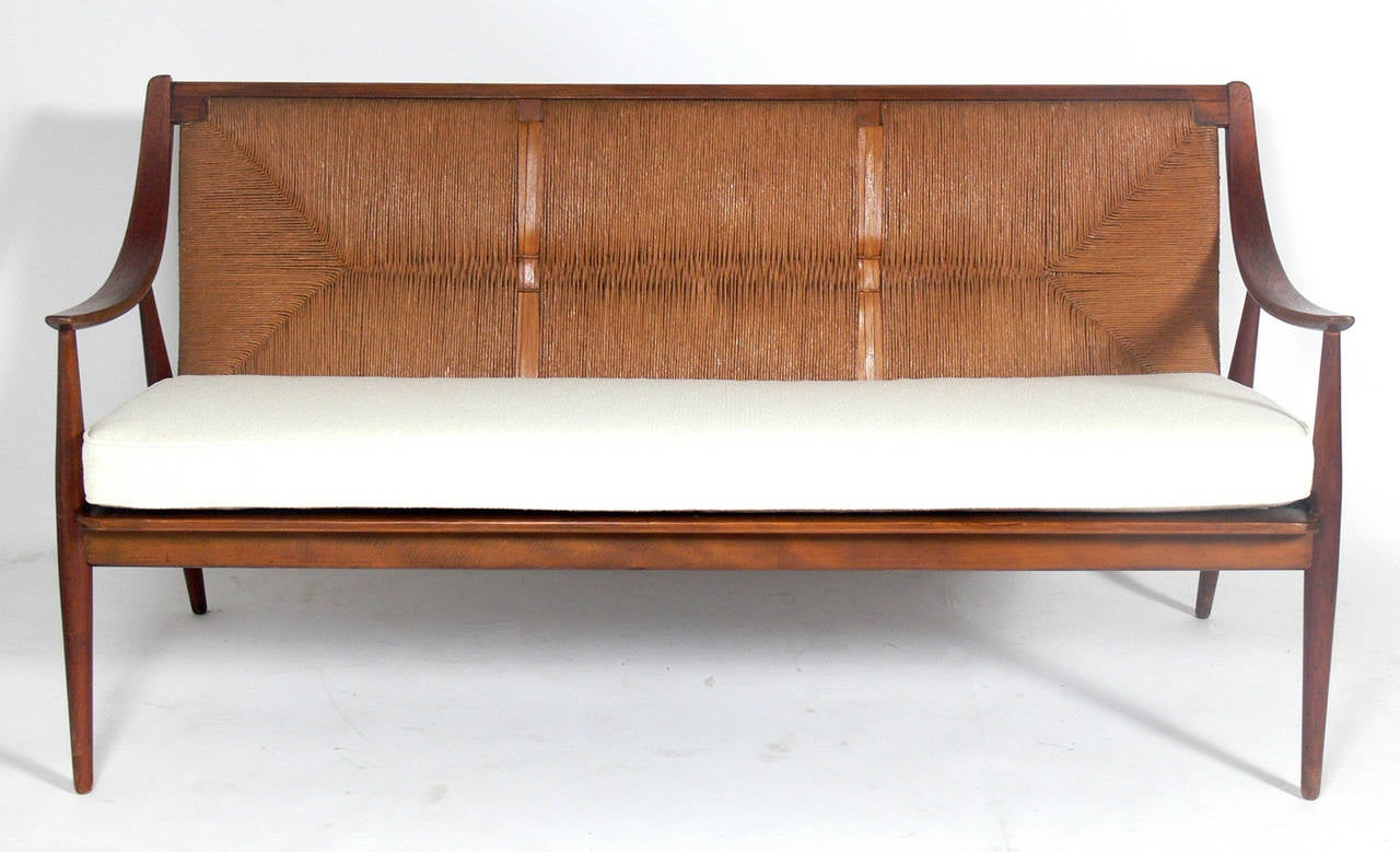 Danish modern sofa or settee by peter hvidt and orla for Danish modern settee