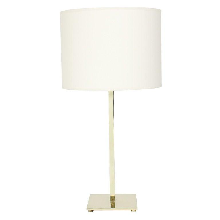 Clean Lined Brass Desk Lamp By T H Robsjohn Gibbings For