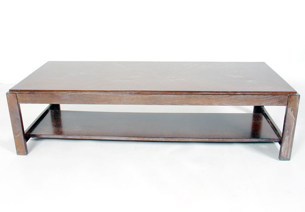 limed oak rectangular coffee table for sale at 1stdibs