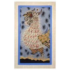 Framed Modernist Tapestry by Jean Lurcat