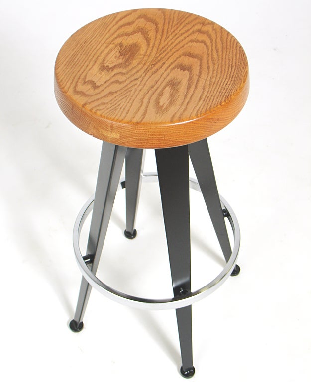 Modernist Barstools After Jean Prouve Four Available At
