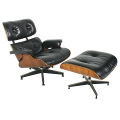 Iconic Lounge Chair and Ottoman by Charles and Ray Eames