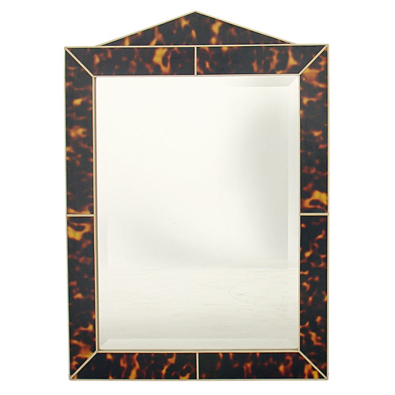 Faux Tortoise Shell Mirror 1