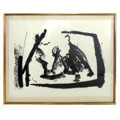 Large Scale Abstract Lithograph by Robert Motherwell