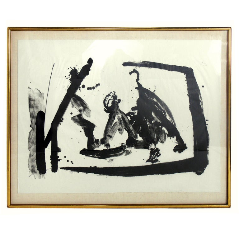 Large Scale Abstract Lithograph by Robert Motherwell 1
