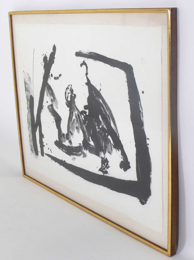 Large Scale Abstract Lithograph by Robert Motherwell 2