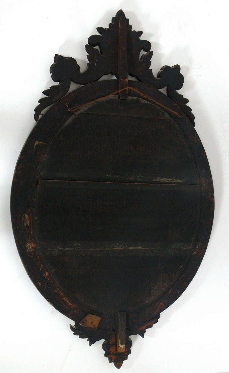 Elegant 19th Century Oval Venetian Mirror For Sale 1