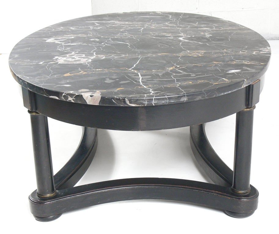 Oval Coffee Table Marble: Elegant 1940's Oval Marble Top Coffee Table At 1stdibs