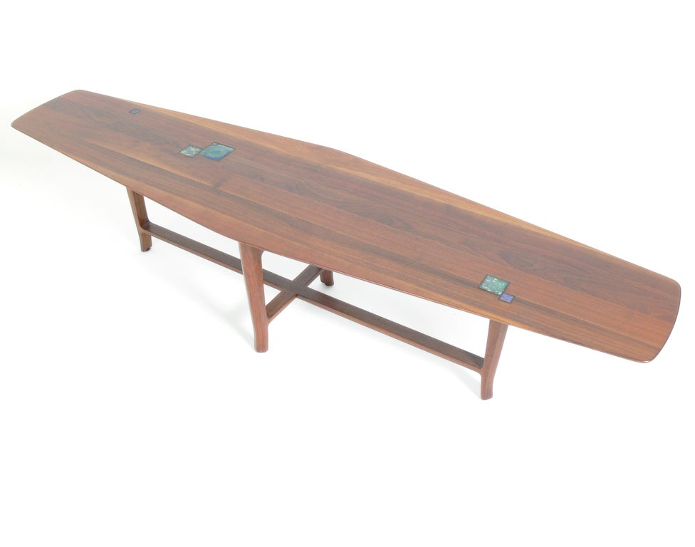 Rare Edward Wormley Coffee Table With Inset Tiffany Tiles At 1stdibs