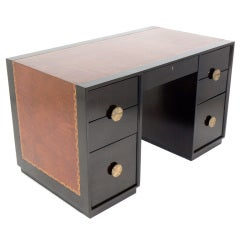 Tommi Parzinger Leather Top Desk