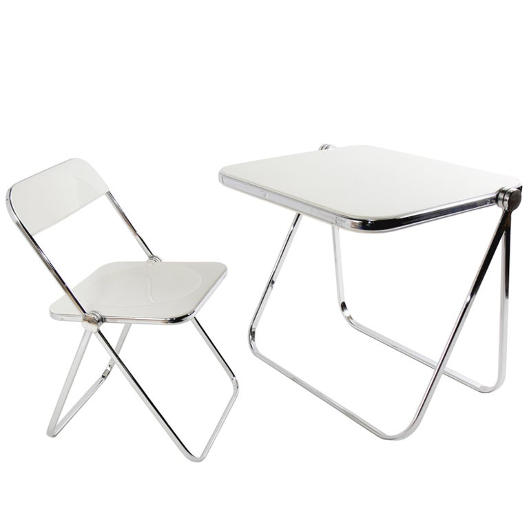 Castelli Plia Folding Desk And Chair At 1stdibs