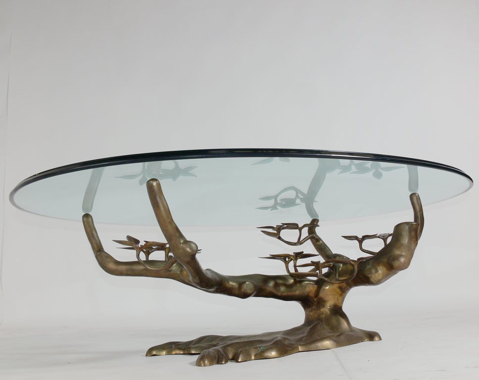 Sculptural Brass Tree Form Coffee Table Base image 2