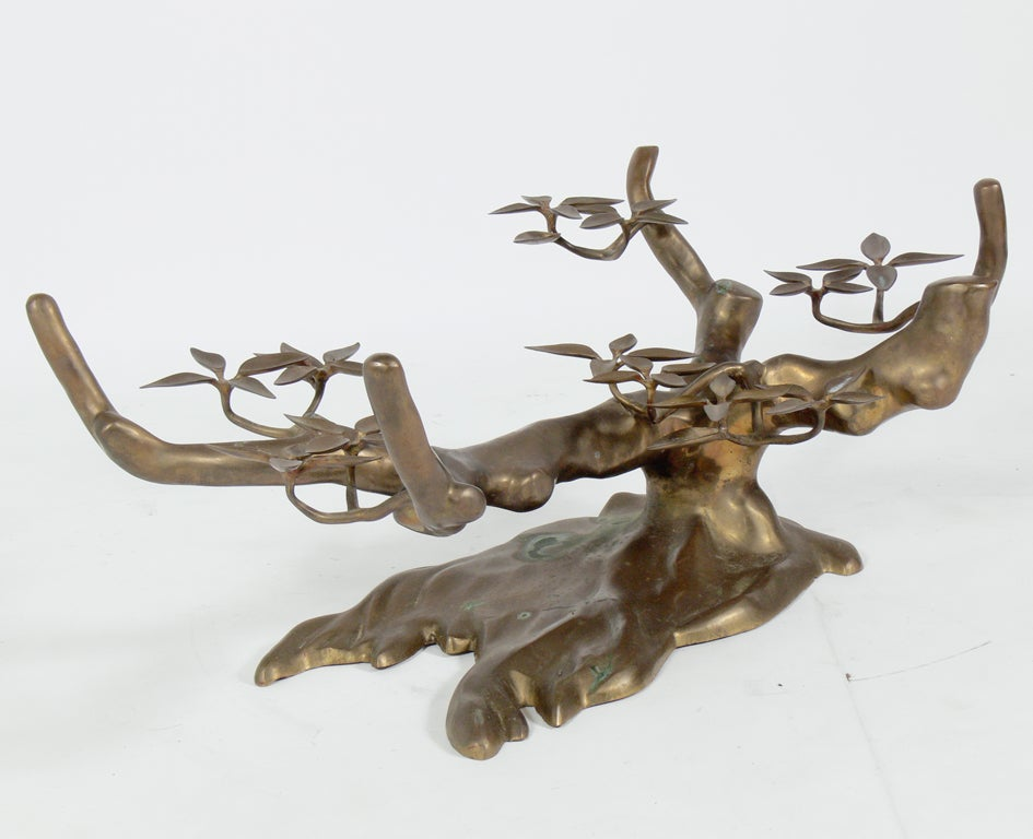 Sculptural Brass Tree Form Coffee Table Base image 6