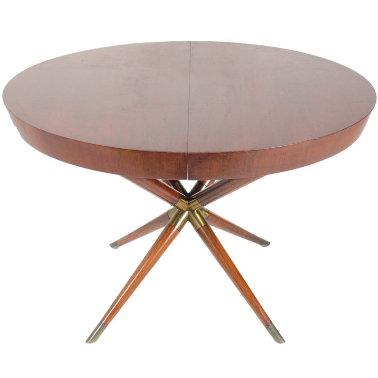 Round Dining Room Tables With Outside Leaves