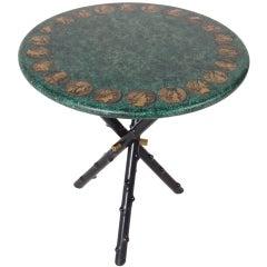 Elegant Tripod Table designed by Piero Fornasetti